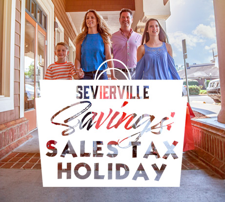 Sevierville Savings Sales Tax Holiday Icon